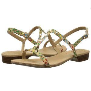 Vaneli Women's Baina Leather Open Sandal Sz 6.5